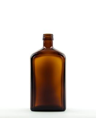 500 ml Sirupflasche PP 28 S braun