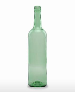 750 ml Bordeauxflasche 308 mm BVS 30 H 60 lichtgrün