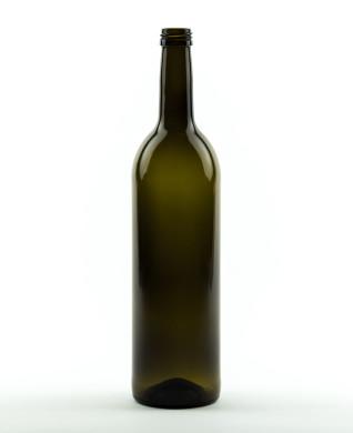 750 ml Bordeauxflasche 307 mm 28 MCA 7,5 R antikgrün