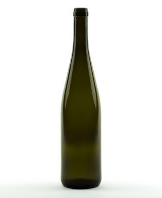 750 ml Rhine Wine/Hock Bottle 330 mm cork olive green