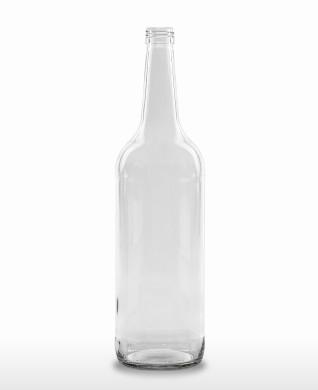 1000 ml Gradhalsflasche/Geradhalsflasche PP 28 S weiß