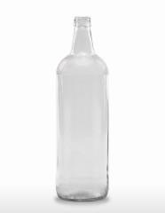 1000 ml Kurzhalsflasche teilgranuliert PP 28 S weiß