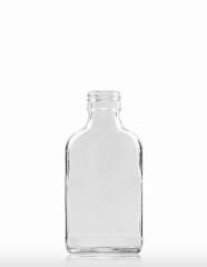 100 ml Taschenflasche PP 28 S weiß