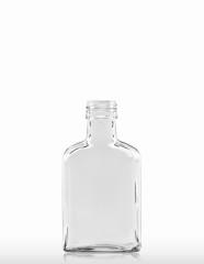 100 ml nierenförmige Taschenflasche PP 28 S weiß