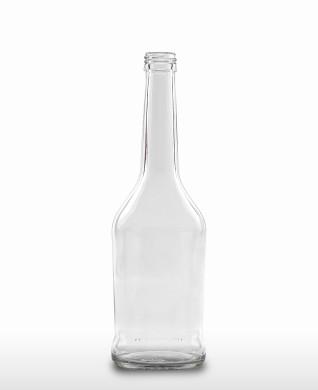 500 ml Napoleonflasche PP 28 S weiß