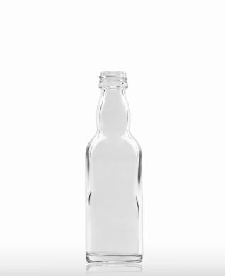 50 ml Kropfhalsflasche PP 18 S weiß