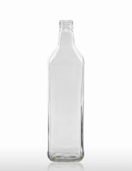 700 ml Vierkantflasche PP 28 S weiß