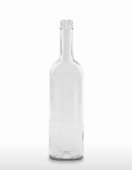 750 ml Bordeaux Bottle 298 mm 28 MCA 7.5 R with transfer ring flint