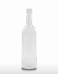 750 ml Bordeauxflasche 298 mm 28 MCA 7,5 R mit Transferring weiß