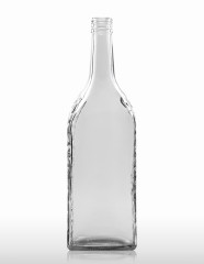 1000 ml Kirschwasser Bottle with relief PP 31.5 deep flint