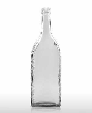 1000 ml Kirschwasser Bottle with relief PP 31.5 deep flint
