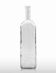 1000 ml Kirschwasserflasche mit Schwarzwalddekor STC 31,5 H 60 weiß
