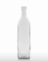 1000 ml Vierkantflasche PP 31,5 deep weiß
