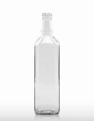 1000 ml Whiskyflasche achtkant STC 31,5 H 44 weiß