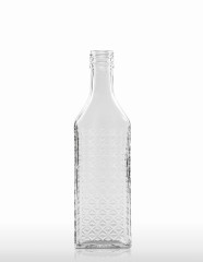 350 ml Kirschwasser Bottle with relief PP 31.5 deep flint