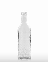 350 ml Kirschwasserflasche mit Rauten-Relief PP 31,5 deep weiß