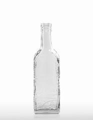 350 ml Kirschwasserflasche mit Schwarzwalddekor PP 31,5 deep weiß