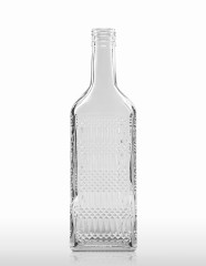 500 ml Kirschwasser Bottle with relief PP 31.5 deep flint
