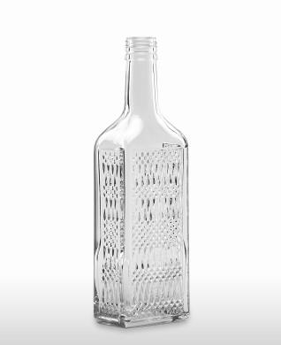 500 ml Kirschwasser Bottle with relief PP 31.5 deep flint