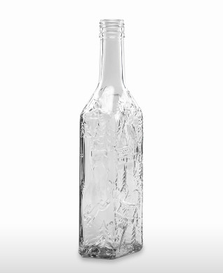 "500 ml Kirschwasser Bottle ""Schwarzwald"" PP 31.5 deep flint"
