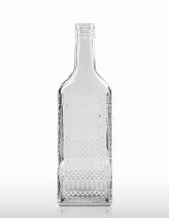 500 ml Kirschwasserflasche mit Rauten-Relief PP 31,5 deep weiß