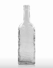 500 ml Kirschwasserflasche mit Schwarzwalddekor PP 31,5 deep weiß