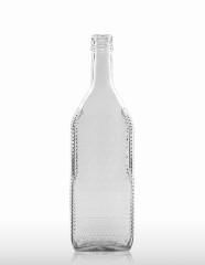 700 ml Kirschwasserflasche mit Rauten-Relief PP 31,5 deep weiß
