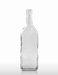 700 ml Kirschwasserflasche mit Schwarzwalddekor PP 31,5 deep weiß