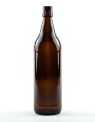 1000 ml Lochmund-Bierflasche braun Mehrweg