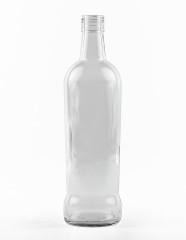 700 ml konische Spirituosenflasche PP 31 deep weiß