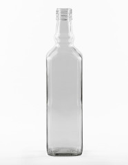 700 ml Whiskyflasche achtkant BVP 31,5 H 44 weiß
