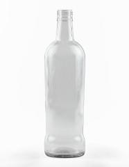 750 ml konische Spirituosenflasche PP 31 deep weiß